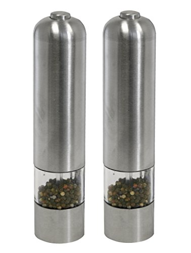 iTouchless Automatic Stainless Steel Pepper Mill and Salt Grinder (Big Pepper Grinder)