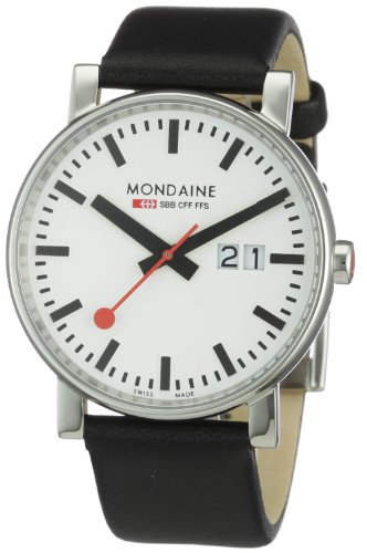 Mondaine EVO Big Date 40mm White Dial, Black