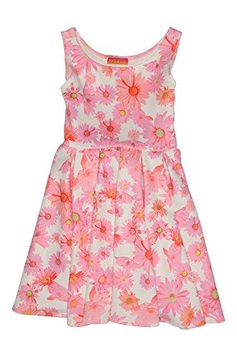 Mack Sundress Kate (Kate Mack Girl's 7-16 Dottie Daisy Scuba Dress, Multi - Size 12)