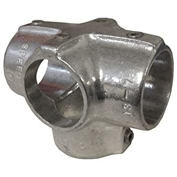 Adjustable Cross Assembly 1-1//2 Inch Pipe Aluminum Alloy Pipe Rail Fitting Hollaender 9 Pack