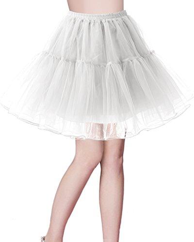 Bridesmay Jupon Tutu Petticoat Femme Vintage annes 50 Rockabilly Ivoire