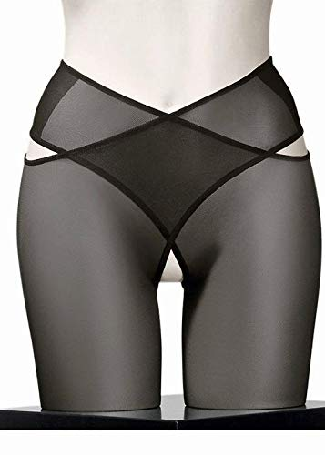 (Wolford Individual 12 Denier Stay-Hip Pantyhose, Medium, Black)