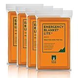 Bearhard Emergency Blanket PE Space Blanket for Camping Hiking or Outdoor Rescue Foil Survival Thermal Blankets Orange