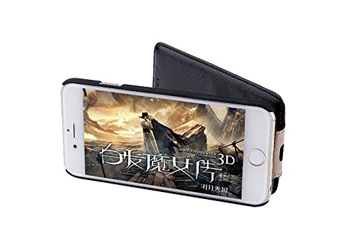 SZEETECH iPhone 6s/6 Original - Funda de piel para Iphone 6S/6 Funda - Ranura de la tarjeta - Ultra Slim - Funda de piel con tapa vertical delantera y trasera (Blanco), piel, negro, iPhone 6s case bla