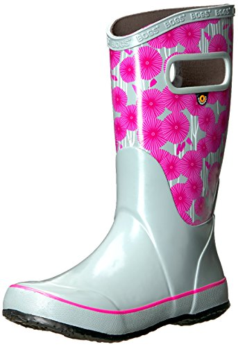 Girls Wellies - Bogs Kids Rubber Waterproof Rain Boot for Boys and Girls , Aster Print/Gray/Multi, 12 M US Little Kid