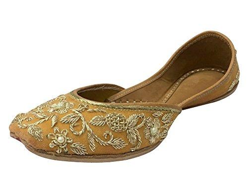 Step n Style Bridal Flats Wedding Shoes Indian Designer Shoes Punjabi Jutti Mojari Gold