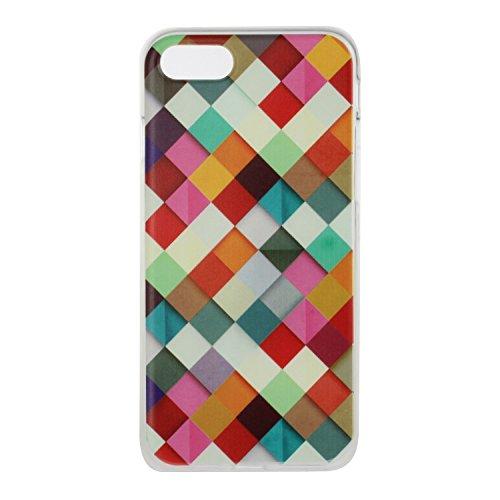 Custodia iPhone 7 Plus / iPhone 8 Plus , LH Caja Roja TPU Trasparente Silicone Cristallo Morbido Case Cover Custodie per Apple iPhone 7 Plus / iPhone 8 Plus 5.5