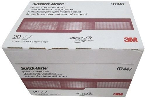3M 7447 Scotch-Brite Maroon General Purpose Hand Pad 3 boxes (60 pads)