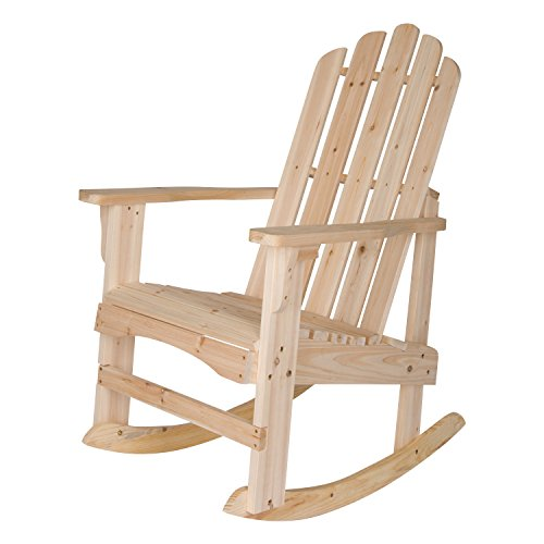 Shine Company Marina Porch Rocker Chair, Natural