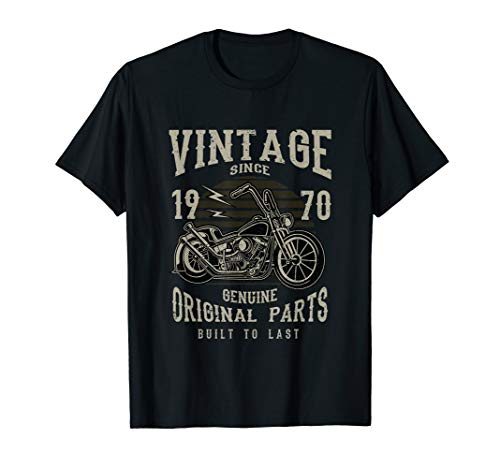 47th Birthday 1970 Vintage Retro Motorcycle Chopper Tshirt