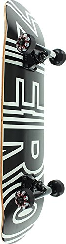 Zero Skateboards Bold Black/White Mini Complete Skateboard - 7.25