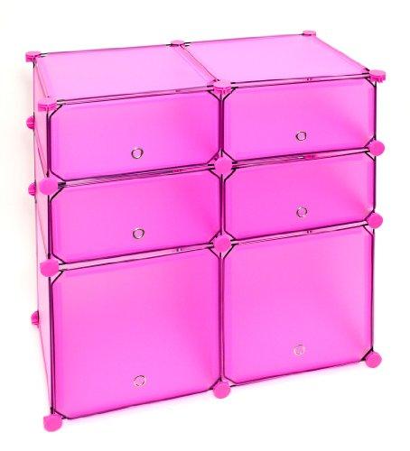 regal schrank steckregal badregal kleiderschrank kinderregal kommode in rosa pink bettmix. Black Bedroom Furniture Sets. Home Design Ideas