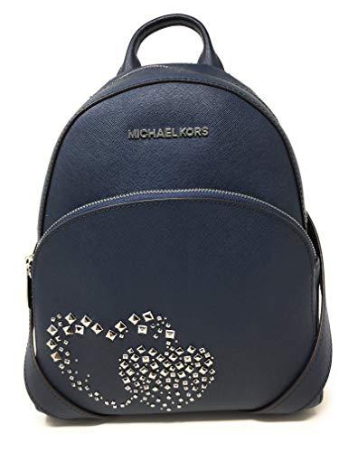 81b128cc5bcb Amazon.com | MICHAEL KORS LEATHER ABBEY MEDIUM HEART STUDDED BACKPACK BAG  IN NAVY | Casual Daypacks