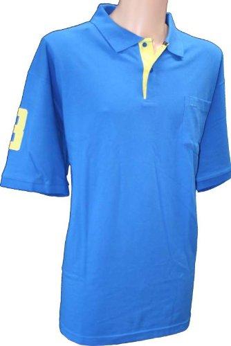 D2K Badeshorts im perfekten Collection Nr. 3 Polo Short Sleeve Top Shirt- erhältlich in 5 Farben Gr. XXXX-Large, Blau - Königsblau