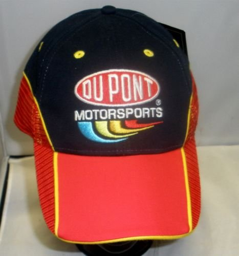 2006-Jeff-Gordon-24-Chase-Authentics-Blue-Red-Dupont-Motorsports-Official-Pit-Cap-Partial-Red-Mesh-Hat-One-Size-Fits-Most-OSFM-Adjustable-Velcro-Strap