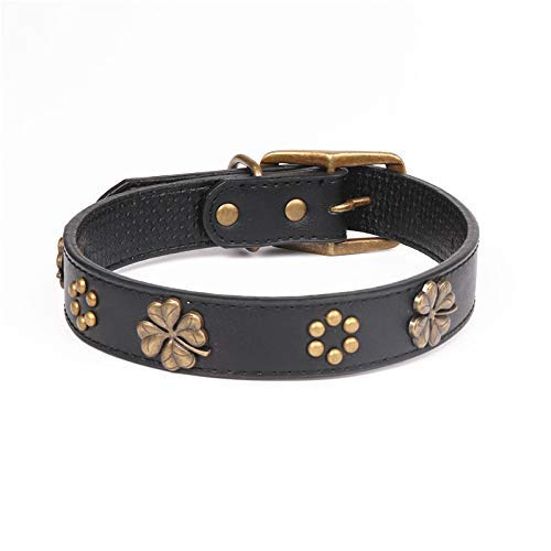 2.0×29-36cm Lindou Pet collar Pet collar bronze leath dog collar 2.5×35-45cm (color   2.0×29-36cm)
