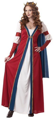 California Costumes Renaissance Queen, Red/Blue, Large Costume (Royal Empress Adult Costume)