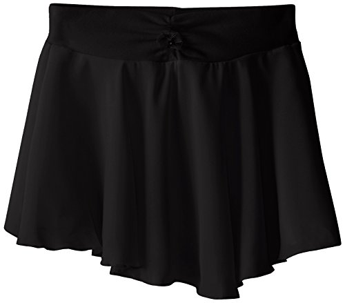 Capezio Big Girls' Pull-On Georgette Skirt, Black, (Capezio Womens Skirt)