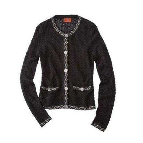 (Missoni for Target Sweater Cardigan Jacket Famiglia Black White - Medium)
