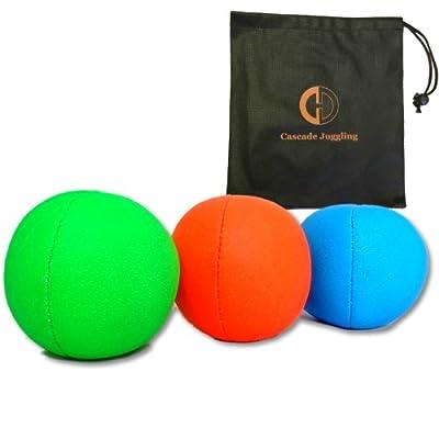 3x UV Pro Balles de Jonglage et sac à smoothie–Lot de 3balles de jonglage