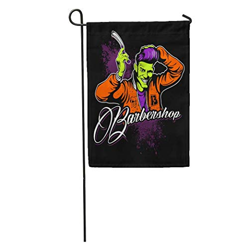 Nick Thoreaufhed Garden Flag Haircut Barber Comic Book Fifties Retro Rockabilly Home Yard House Decor Barnner Outdoor Stand 12x18 Inches Flag]()
