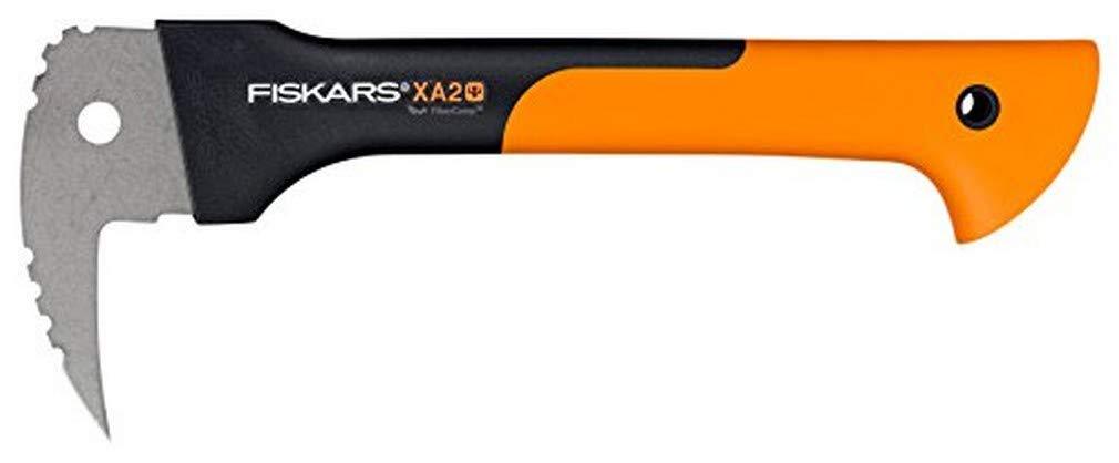 Fiskars WoodXpert XA2 Sappie, Length: 34.8 cm, Hardened steel blade/Fibreglass reinforced synthetic material handle, Includes protective cover, Black/Orange, 1003622