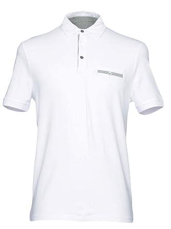 Polo Alpha Blanco algodón Bolsillo Hombre TG M, XL A11/35: Amazon ...