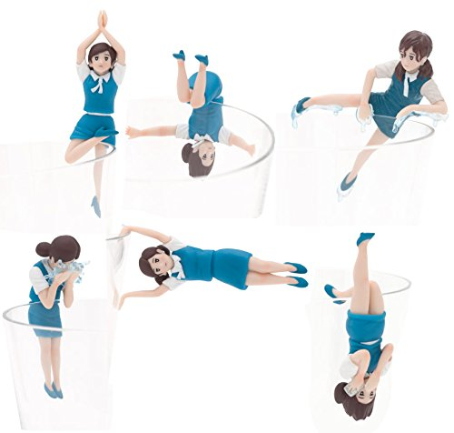 Kitan Club Fuchico on The Cup Series 5 Blue Collectible Figure Mystery Blind Box - 6-Piece Complete Set