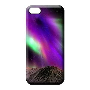iphone 6 High Plastic New Fashion Cases phone carrying covers colorful aurora polar light polarization
