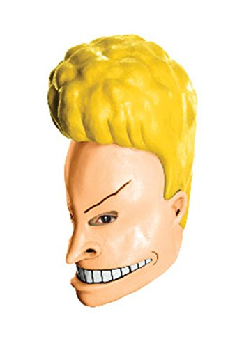 MTV Beavis and Butt-Head Adult Deluxe Overhead Latex Beavis Mask, Multicolored, One Size