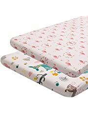 ALVABABY Cradle Mattress 100% Organic Cotton Soft and Light Baby Changing Pad Cover for Boys and Girls Gift Sets