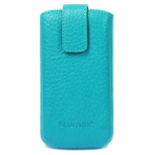 Original Blumax ® Smartphone Ledertasche mit Rückzugfunktion für Samsung I9250 Galaxy Nexus, Samsung Galaxy S2 LTE, HTC Sensation XL with Beats Audio, HTC Titan, Medion Life P4310 (MD 98910), BASE Lut