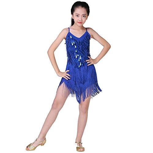 Magogo Girls Dancing Dresses, Sequin Tassel Skirt