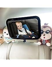 VOICEPTT Espejo Retrovisor de Bebé para Auto,Rotación de 360 Grados Espejo de Observación para Bebés/Espejo de seguridad para pasajeros,Panorama claro,Ajustable