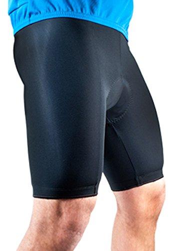Mens Basic Bike Short Padded Cycling Shorts Biking Pant Black X-Large
