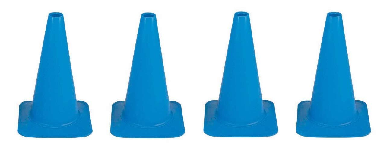 Cortina Sport Cone, Polyethylene 03-500-39, 18'' Height, Blue (Fоur Расk)