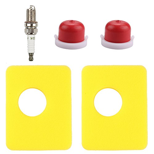 Harbot (Pack of 2 799579 Air Filter with 594281 Primer Bulb Spark Plug for Briggs & Stratton 08P502 09P602 09P702 Engine