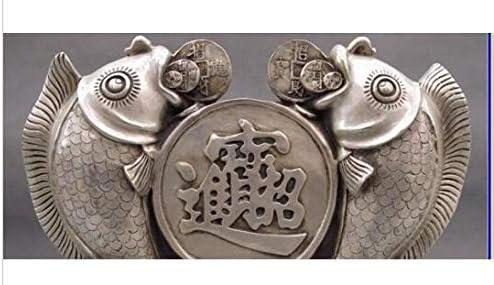 Escultura decorativas estatuas decoración cobre china plata lucky feng shui moneda 3