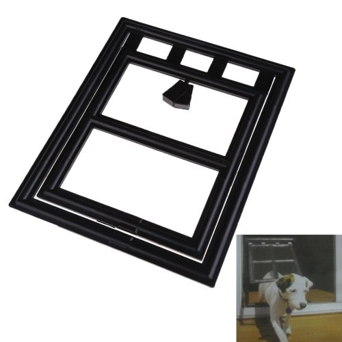 TTnight 2-Way Locking Cat Door, White ABS Lockable Pet Door Kit for Cats and Small Dogsl, Installing Easily