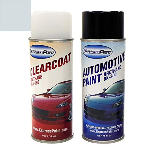 ExpressPaint Aerosol - Automotive Touch-up Paint for Mercury Grand Marquis - Light Ice Blue Pearl Metallic Clearcoat LS/M7054 - Color + Clearcoat Package
