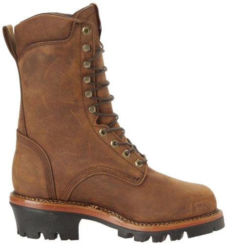 Justin Lavoro Originale Stivali Mens Jmax Logger Acciaio Te Acciaio Lavorato Scarpe Da Lavoro Robusto Invecchiato Corteccia / Gaucho Impermeabile