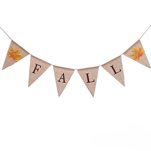 Cheap  Jute Burlap Fall Banner Happy Thanksgiving Day Harvest Garland Bunting Fireplace Mantel..