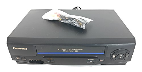 Electronics : Panasonic PV-V4521 VCR Video Cassette Recorder 4-Head Hi-Fi Stereo Omnivision VHS Player. Works Great.