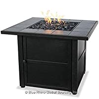 UniFlame LP Gas Outdoor Fire Bowl with Slate Tile Mantel by UniFlame