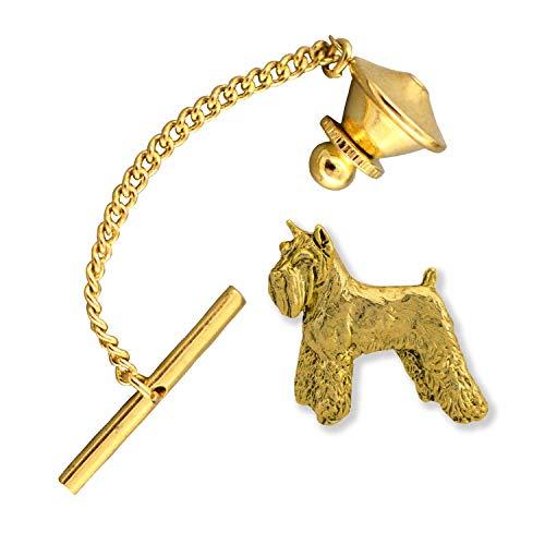 (Creative Pewter Designs Schnauzer Dog 22k Gold Plated Tie Tack, Tie Pin, Jewelry, DG458TT)
