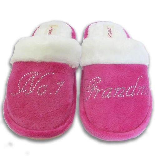 Von varsany Pink Kristall Nr. 1Oma beste Haus Hausschuhe personalisierbar Strass Home Hausschuhe Geschenk