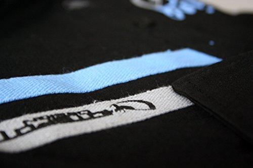 "Hotspot Design Poloshirt ""Go Fishing"", schwarz, Angler Polo Hemd"