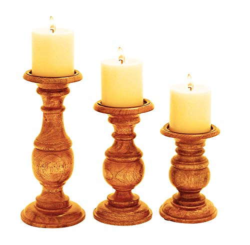 Ten Waterloo Wood Candle Holder S/3 10