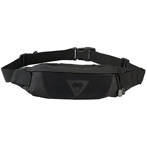 Viperade Multifunction Waist Pack Bag, Waterproof Running Fanny Pack for Hands Free, Outdoor Ultralight Waist Bag, Adjustable Fashion Storage Pack Phone EDC Gear, Tactical Shoulder Backpack (Black)