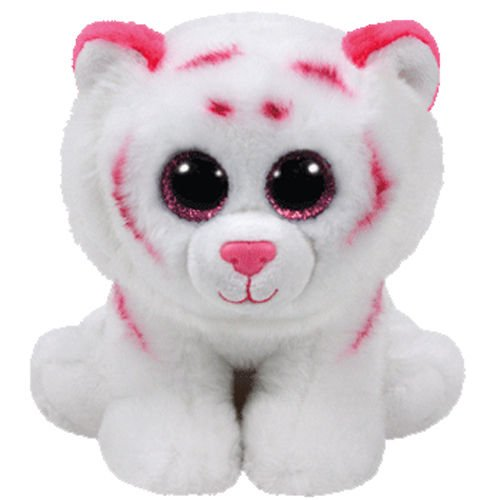 TY Beanie Baby - TABOR the Pink & White Tiger (6 inch) -M...